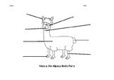 Macca the Alpaca label the body parts