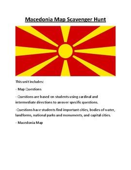 Macedonia Map Scavenger Hunt