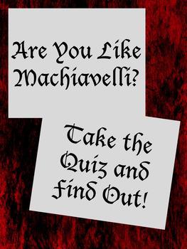 Machiavelli Buzzfeed Quiz