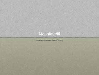 Machiavelli Presentation