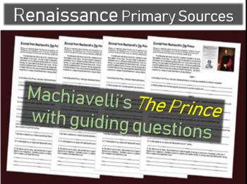 Machiavelli's The Prince Primary Source Document with guiding questions