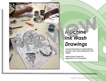 Machine Ink Wash Drawings