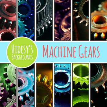 Machine Parts / Gears / Cog Backgrounds / Digital Papers for Commercial Use