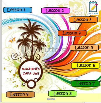 Machines Theme Creative Arts Unit of Work and Notebook