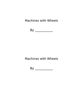 Machines With Wheels Mini Book