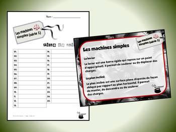 Machines simples, série 1 (cartes à tâches) (Sciences)