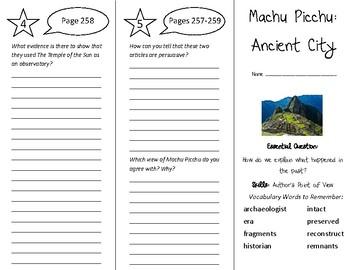 Machu Picchu: Ancient City Trifold - Wonders 5th Grade Uni