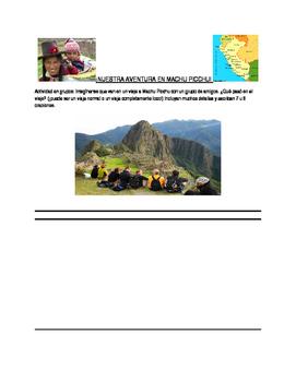 Machu Picchu Group writing activity