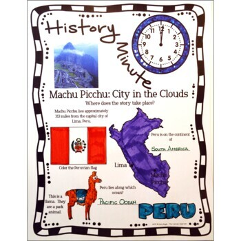 Machu Picchu History Minute Cross Curricular History and Close Reading Packet