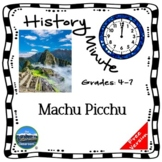 Machu Picchu History Minute Cross Curricular Packet Free Sample