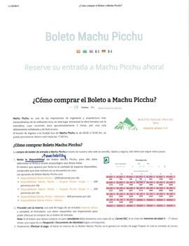 Machu Picchu - Lecturas y Preguntas