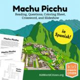 Machu Picchu Lesson: Teach about Incas in Peru! Reading, Activities ~ Spanish
