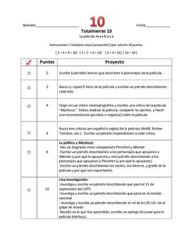 Machuca - Totally Ten Spanish Choice Assessment/Activity