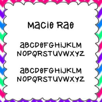 Macie Rae Font {personal and commercial use; no license needed}