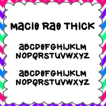 Macie Rae Thick Font {personal and commercial use; no license needed}