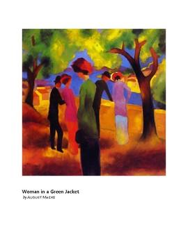 Macke Woman in a Green Jacket Expressionism