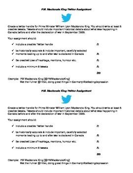 Mackenzie King Twitter Assignment