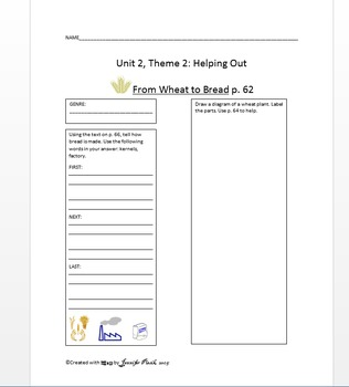 Macmillan Grade 1 Unit 2 Theme 2 - From Wheat to Bread (paired selection)