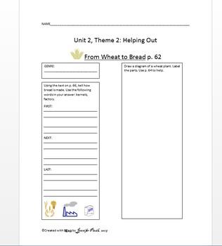 Macmillan Grade 1 Unit 2 Theme 2 - From Wheat to Bread (pa