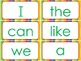 Macmillan Kindergarten- Sight Words for Word Wall (green,yellow,red)