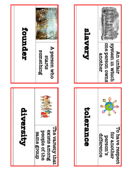 McGraw-Hill Three Worlds Meet Unit 2 Vocabulary Words with Definition & Visuals