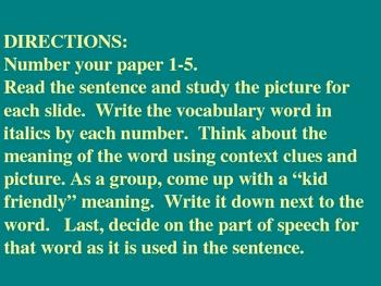 Macmillan Reading Vocabulary 5th grade,  Unit 2, Story 3