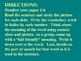 Macmillan Reading Voc.for 5th grade,  Unit 2, Story 2