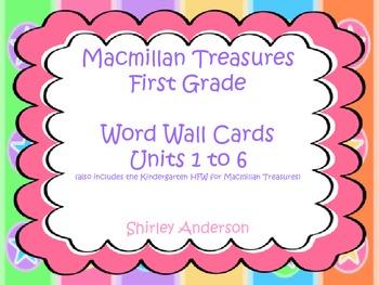 Macmillan Treasures 1st Grade- HFW for word wall