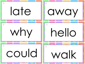 Macmillan Treasures 1st Grade- HFW for word wall