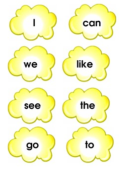Macmillan Treasures Popcorn Sight Word Game for First Grade