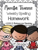 Macmillan Treasures Weekly Spelling Homework