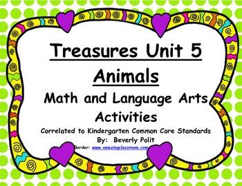 Macmillan/McGraw-Hill Treasures Unit 5 Animals Math and Literacy Activities