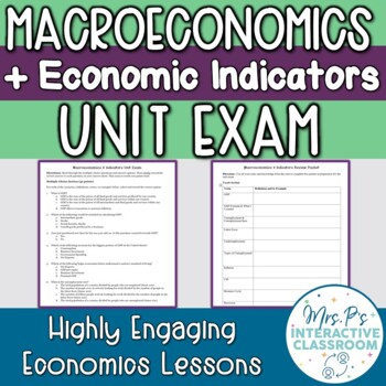 Macroeconomics & Economic Indicators Unit Exam