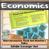 Macroeconomics Fiscal and Monetary Policy Scavenger Hunt