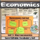 Macroeconomics Vocabulary Unit