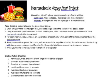 Macromolecule Meal Project