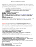 Macromolecule Multimedia Project