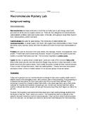 Macromolecule Mystery Lab