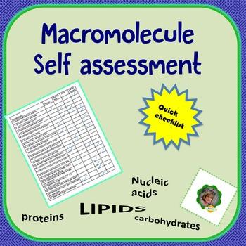 Macromolecule Self Assessment