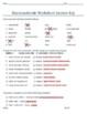 Macromolecule worksheet (with answer key)