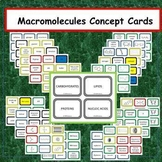 Macromolecules Concept Cards - Three Way Thinking Activity