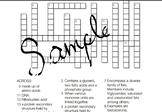 Macromolecules Crossword Puzzle