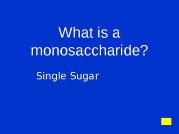 Macromolecules Jeopardy Review Game