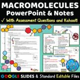 Macromolecules PowerPoint, Notes & Quiz - Digital & Printable