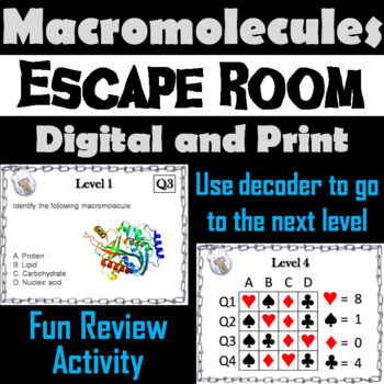 Macromolecules Activity: Biology Escape Room - Science