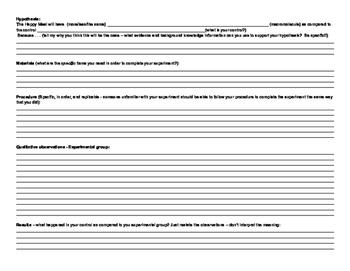 Macromolecules, qualitative data, chemical indicator McMush lab