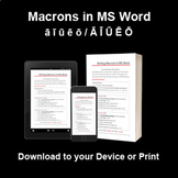Adding Macrons in MS Word