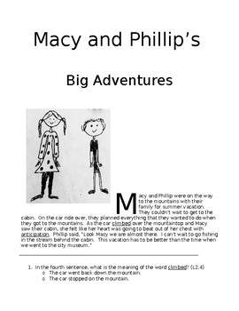 Macy and Philiip's Big Adventure, Lessons on Vocabulary and Context