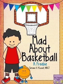 Mad About Basketball: ELA & Math Printables {FREEBIE}