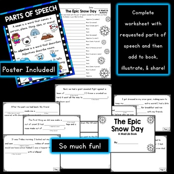Mad About Mad Libs BOOK: Winter Theme {Parts of Speech Activity}